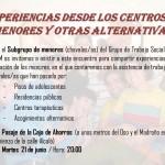 """Charla en Sol: Experiencias desde los centros de menores y alternativas"""""""
