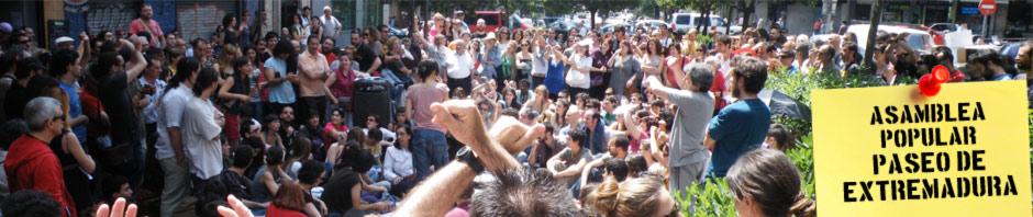 Toma los barrios | Asamblea Popular Paseo Extremadura