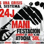 Cartel de la manifestación del domingo 24J