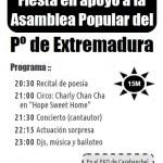Viernes 23N - Fiesta en apoyo a la Asamblea Popular del Pº de Extremadura