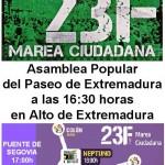 La Asamblea PEX en la Marea Ciudadana del 23F