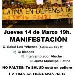 Manifestación distrito de Latina por la Sanidad Pública, 14 de marzo