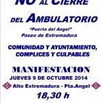 Manifestación 9 Octubre contra el cierre del Ambulatorio del Pta. del Angel