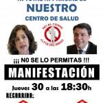 Manifestación 30 de octubre contra el cierre del CS PUERTA DEL ANGEL