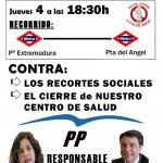 3ª Manifestación vecinal en contra del cierre del C.S. Puerta del Angel
