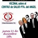 Concentración Asamblea en el Centro de Salud Pta. del Ángel, Jueves 11 a las 18h.