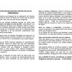 Manifiesto contra el cierre del CS de Puerta del Angel