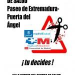 NO AL RECORTE DEL CENTRO DE SALUD Paseo de Extremadura- Puerta del Ángel